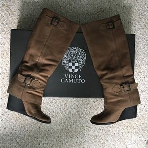Vince Camuto Autumn Wedge Tall Boot Size 6.5